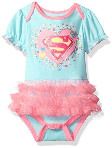 Warner Brothers Baby Girls' Supergirl Bodysuit Tutu, Green, 3/6M
