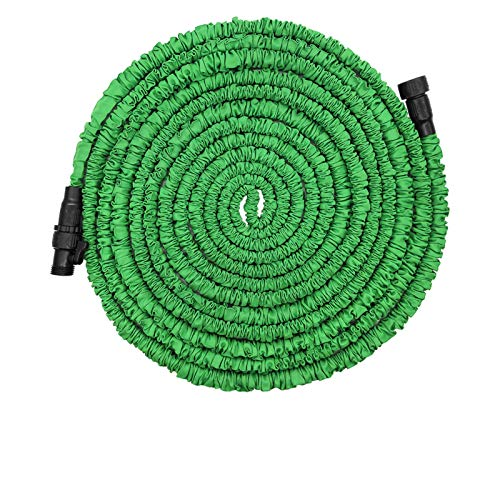 POYINRO Expandable Garden Hose, 100ft Strongest Expanding Garden Hose with Triple Layer Latex Core & Latest Improved Extra Strength Fabric Protection for All Your Watering Needs Improved Design(Green)