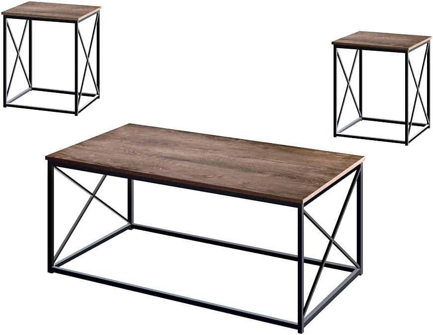 AZL1 Ranking TOP14 Life Concept Modern Coffee Oak Table 3pc Dark Max 67% OFF