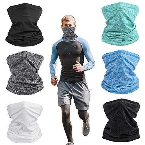 Balaclava Neck Gaiter Breathable Face Scarf Cover Mixture Colors Headwear for Men and Women X-Large