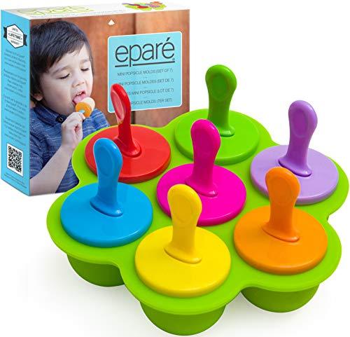 Eparé Popsicle Formen für Kleinkinder – selbstgemachte Eiswürfelform – Mini-Eis-Leckerli-Form – BPA-frei