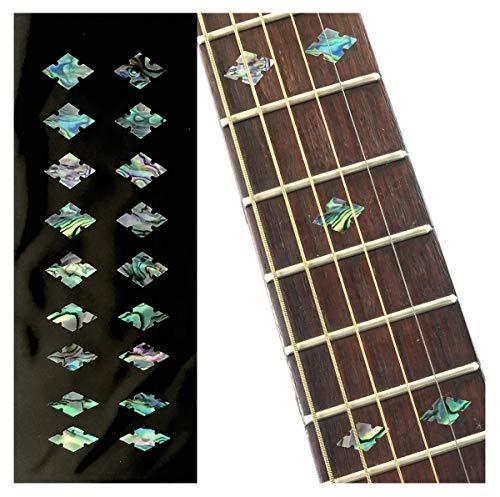 ジャカモウ Traditional カット・ダイヤモンド (アバロンMIX) ギター ベース ウクレレ インレイステッカー F-308SD-MX