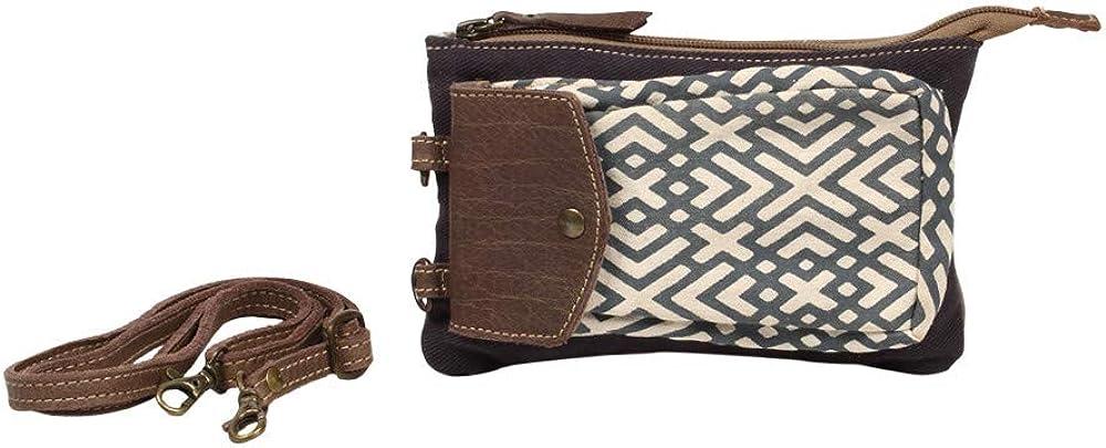 Myra Bag X Design Upcycled Canvas Wristlet Pouch Bag S-1220