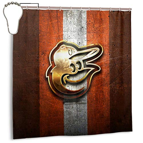 Fremont Die Baltimore-Oriole&s Bath Shower Curtain with Hooks Bathroom Decor Waterproof Polyester Fabric Machine Washable Cloth Fabric