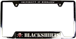 Nebraska Blackshirts Official NCAA 12 inch x 6 inch Metal License Plate Frame by Wincraft