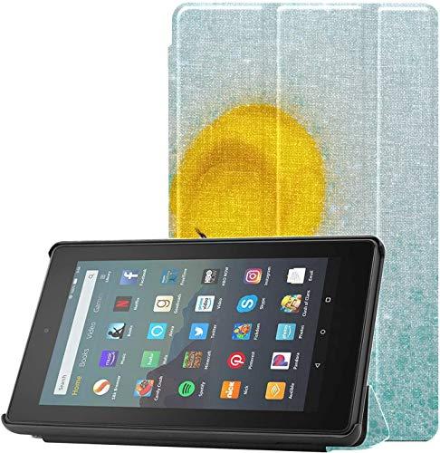 Funda para Kindle Fire de 7 Pulgadas con Pato de Goma en Espuma de baño de Burbujas 2019 Funda para Kindle Fire para Tableta Fire 7 (novena generación, versión de 2019), Ligera con suspensión/activ
