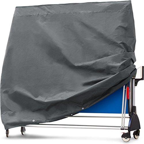 Purovi Schutzhülle für Tischtennisplatte | Abdeckung aus Oxford Gewebe | Wetterschutz | Wasserdicht | UV-Schutz | Maße 165 x 70 x 185 cm