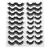 18 Pairs Lashes 6 Styles Lashes Pack Natural Wispy Volume Faux Mink Lashes Dramatic Soft Handmade Lashes