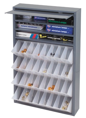 """Durham 590-95 Gray Cold Rolled Steel Tilt-Out Tray Dispensing Cabinet, 19"""" Width x 26-3/4"""" Height x 4"""" Depth"""