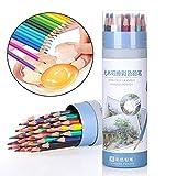 Set de 36 lápices de colores,Lápices de colores para adultos y niños,lápiz borrable hexagonal de color aceitoso, Profesionales y principiantes utilizados para pintar y colorear