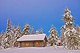 LFZY Rompecabezas 5000 Piezas de Hermosa cabaña de Nieve para Adultos y niños Rompecabezas de Madera Juego Creativo de Ocio Rompecabezas de Juguete