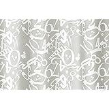 スミノエ(Suminoe) セミオーダーカーテン ホワイト 幅300cm ×丈238cm ディズニー アリス クロック レース M1161