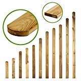Zaunbretter Rundkopf 11 Größen • 180cm hoch • Imprägnierte Zaunlatten Holz für Holzzaun, Lattenzaun, Gartenzaun und Friesenzaun