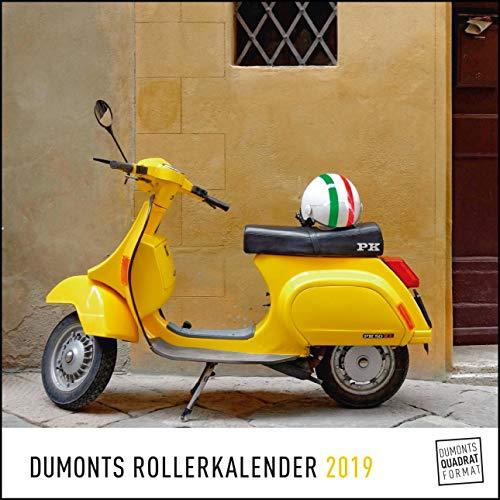 DUMONTS Roller-Kalender 2019 – Wandkalender mit Motorrollern – Quadratformat 24 x 24 cm