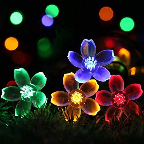 60 Leds Peach Blossom Flower Lámpara Solar 11m Power Led String Luces De Hadas Guirnaldas Solares Jardín Decoración Navideña Para Exteriores RGB-6.5M 30LEDs - 8 modos