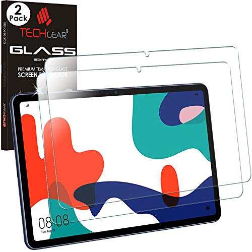 TECHGEAR GLASS Edition [2 Pack] Screen Protectors for Huawei MatePad 10.4, Genuine Tempered Glass Screen Protectors [9H Toughness] [HD Clarity] [Scratch-Resistant] [No-Bubble]