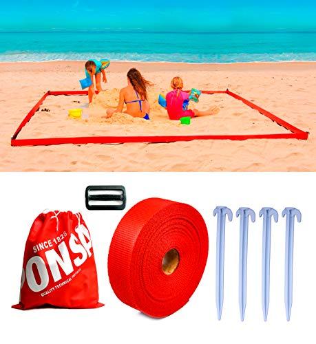 PONSA. Delimitador Playa con piquetas. 3x3m / 4x2m. 041716050102