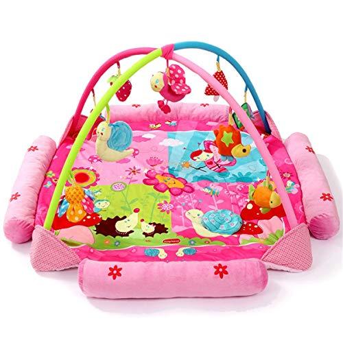 Alfombras de Juego y Gimnasios piso Bebé Juego Manta Classic Baby Play Mat Baby Crawling Mat Soporte Fitness Frame Toy Juguetes Educativos para Niños pequeños ( Color : Pink , Size : 130x130x60cm )