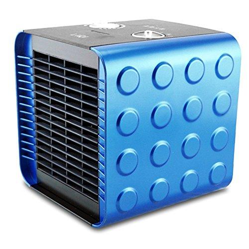 HAIZHEN Radiateur électrique Céramique carrée de chauffage électrique de PTC chauffant 750W \ 1500W \ air froid 18.8 * 18.5CM Économie d'énergie (Couleur : Bleu)