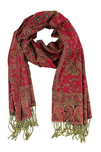 Paskmlna Reversible Paisley Pashmina Shawl Wrap Elegant Colors (#2Maroon)…