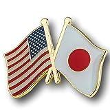 USA-Japanese Friendship Pin/American Japan Cross Flags Broach