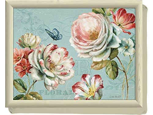 Creative Tops Romantic Garden - Vassoio da Letto con Base Imbottita, Motivo: Floreale