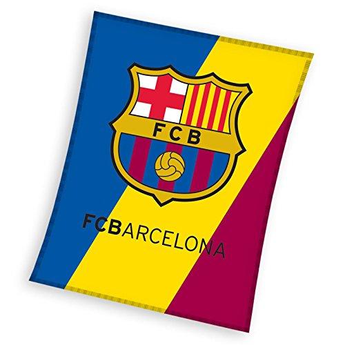 Mercury Manta Polar de 140 x 110 cm, Estampado FC Barcelona, Algodón, Multicolor, 30x12x12 cm