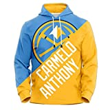 Carmelo Anthony Lovers Basketball Sudadera con Capucha, Nuggets de Denver # 15 Chaqueta con Capucha...