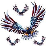 Moligh doll 1 Set/ 4 Satz Auto Aufkleber Fliegender Falke Auto Truck Haube Seite Eagle USA Flag...
