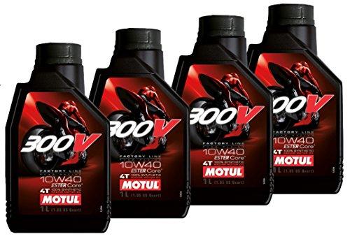 Aanbieding 4 liter motorolie 300 V 10w40 4T Factory Line Racing 100% synthetisch