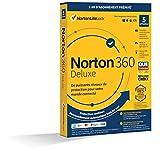 Norton 360 Deluxe 2021   5 Appareils   Antivirus, Sécurité Internet, Gestion Mots de Passe, Protection Webcam, Contrôle Parental, VPN, 50 GO Stockage Cloud    1 An   PC/Mac/Android/iOS