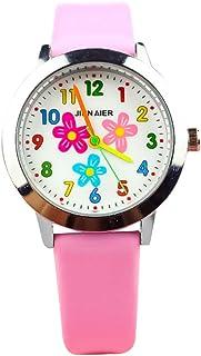 UKCOCO Relógios infantis com padrão de flor criativo Kids Figital Watch Children Watch Relógio de quartzo Kids Watch Prese...