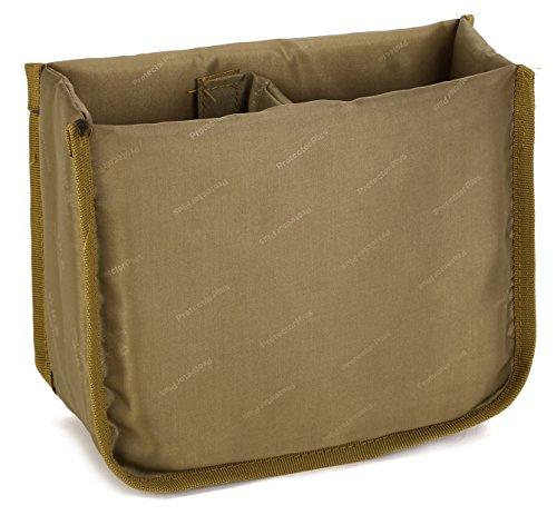 DCCN, cameratas, gestoffeerde inzet, opvouwbare scheidingswand, fototas, gevoerde zakinzet, cameratas, insert, bruin (bruin) - DCA1027-A2FBA