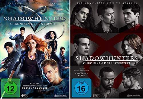Shadowhunters - Die komplette erste + zweite Staffel im Set - Deutsche Originalware [9 DVDs]