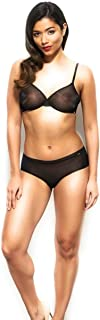 Lingerie Set for Women Glossies Black Bra Thong Shorts Imported Luxury
