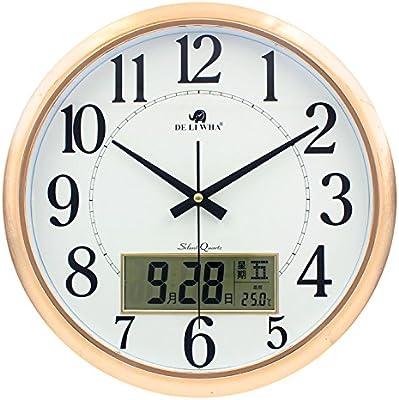 Komo Stylish Bold Classic Quartz Large Wall Clock Non Ticking Silent Wall Clock modern living room