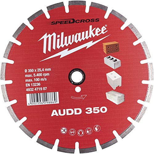 MILWAUKEE Disco de corte en húmedo de diamante SPEEDCROSS AUDD, 350 x 2,6 mm