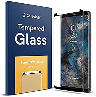 Samsung Galaxy S9 Plus 5D Curved Case friendly Tempered Glass by JBQ - Black