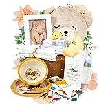 KELZIA Cesta Bebé Regalo Recién Nacidos - Productos Ecológicos y Veganos. Ropa 100% Algodón. Pañales Biodegradables. Vajilla de bambú. Unisex para niño y niña. (BOX 2)