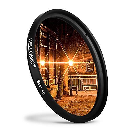 CELLONIC® Filtro Estrella 6 PT Compatible con Sigma Ø 67mm (6 Point) Star Filter, Cross Filter