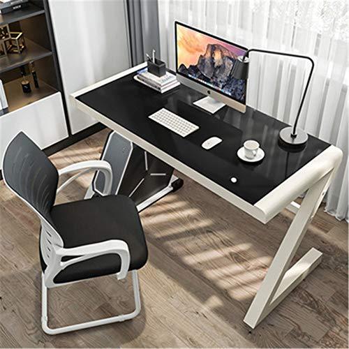 Mesa de juego profesional Escritorio de escritorio de escritorio de escritorio de escritorio de escritorio de cristal templado simple dormitorio de escritorio de escritorio simple mesa de juego mesa M