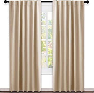 NICETOWN Window Treatment Elegant Curtains - (Biscotti Beige Color) 52 Width X 84, 1 Pair, Curtains and Drapes for Bedroom