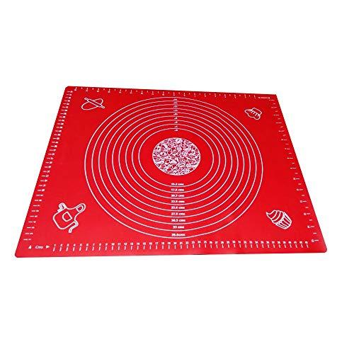 Tapete Culinario Antiaderente de Silicone Vermelho 40x50cm