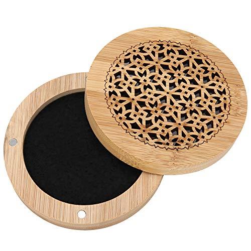Changor Caja de Incienso Suave, Cuadro de Almacenamiento de artesanía Permeabilidad al Aire 9.5x9.5x2.5cm Material de bambú Bambú para Incienso Coneles 9.5 x9 .5 x2 .5 cm