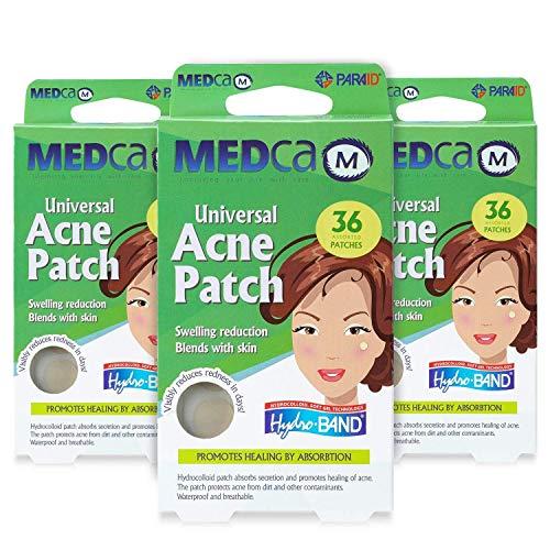 Parches absorbentes para el acné - Vendas hidrocoloides (108 unidades) Dos tamaños universales, tratamiento de acné para el rostro y manchas en la piel, reduce las espinillas y ocultan el acné