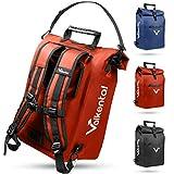 Valkental - 3in1 Fahrradtasche - Geeignet als Gepäckträgertasche, Rucksack und Umhängetasche - Wasserdicht & Reflektierend in Rot (23L)