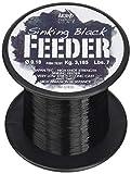 Microphone Alámbrico Negro Black Feeder, Hilo de Pesca Unisex Adulto, Unisex Adulto, AMFEEBLACK1000.020, Negro, 0.2 mm