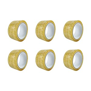 Clear Packing Tape - 1.88 in × 65 Yard Biodegradable Sealing Tape Heavy Duty Industrial Packaging Tape for Shipping Moving - 6 Rolls Recyclable Cellophane Tape