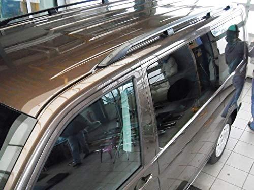 Dakrails geschikt voor VW T5 en T6 lang vanaf bouwjaar 2003 zwart met TÜV en ABE