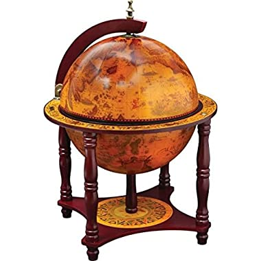 Kassel™ 13  Diameter Globe with 57pc Chess and Checkers Set